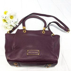 MARC BY MARC JACOBS Eggplant Pebbled Leather Tote
